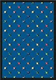 Joy Carpets Games People Play Billiards Gaming Area Rugs, 64-Inch by 92-Inch by 0.36-Inch, Blue