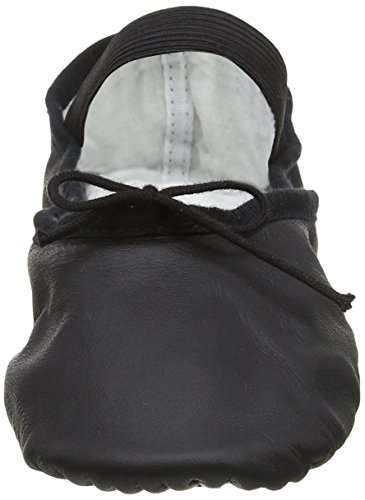 Bloch (s0209) Alzare Balletto In Pelle Nera Eu 35 B Uk 2 B