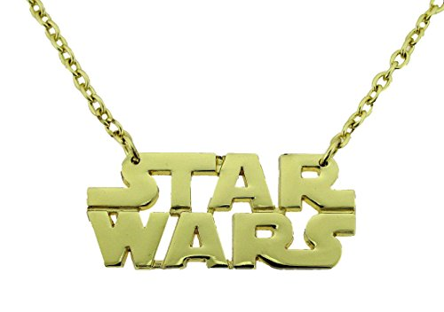 Star wars Logo Text Gold Finished Pendant Necklace