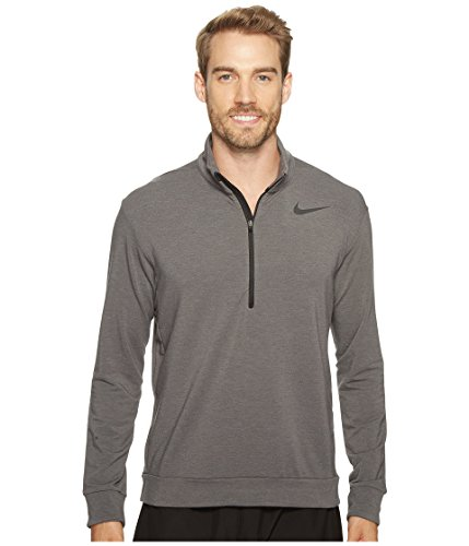 (Nike Dry Long Sleeve 1/4 Zip-Up Mens Training Top (Large))
