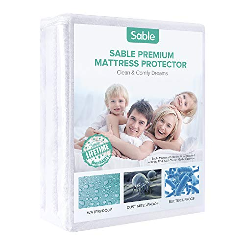Review Mattress Protector FDA Registered 100% Waterproof Hypoallergenic Queen Size, Dust Mite Protection, Breathable and Machine Washable, Vinyl Free