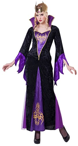 Evil Queen Wicked Maleficent Sorceress Costume Dress (Large) (Wicked Queen Costumes)