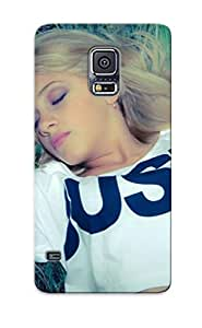 Podiumjiwrp EAHzaAC2992jEoAy Protective Case For Galaxy S5(woman Lying In The Grass ) - Nice Gift For Lovers by supermalls