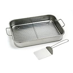 Norpro 12 by 16 Inch Stainless Steel Roast Lasagna Pan