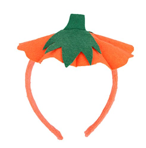 primerry Halloween Costume Performance Pumpkin Head Buckle Headband for Adult Children ()