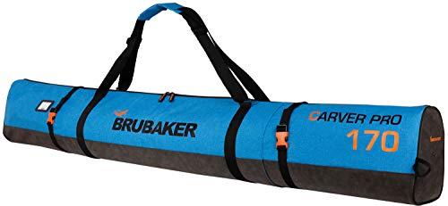 BRUBAKER Carver Performance Ski Bag for 1 Pair of Skis and Poles - Blue Black - 66 7/8 Inches / 170 -