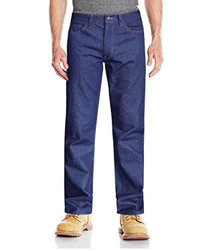 HARD LAND Men's Flame Resistant Pants Relaxed Fit FR Jeans Casual Denim Work Pants Size 38W34L Denim ()