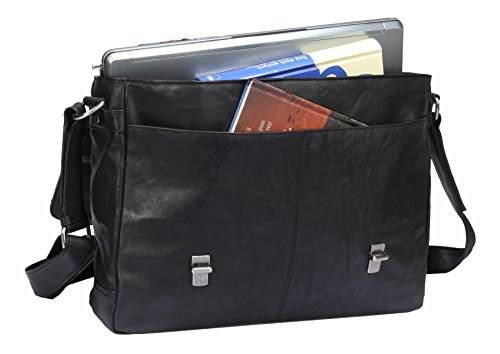 Greenburry Oily Tumbled Messenger Bag Aktentasche Leder 40 cm Laptopfach