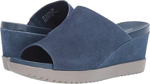 Aerosoles Ladies Shoes - Aerosoles - Women's Blonde Wedge Sandal - Opened Toed Wedge Shoe with Memory Foam Footbed (9M - Denim)