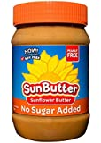 SunButter Sunflower Butter, Delicious, No Sugar Added Alternative to Peanut Butter, 16 oz plastic jars, Pack of 6