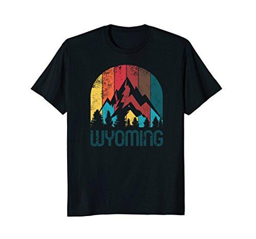 Retro Wyoming T Shirt for Men Women and Kids