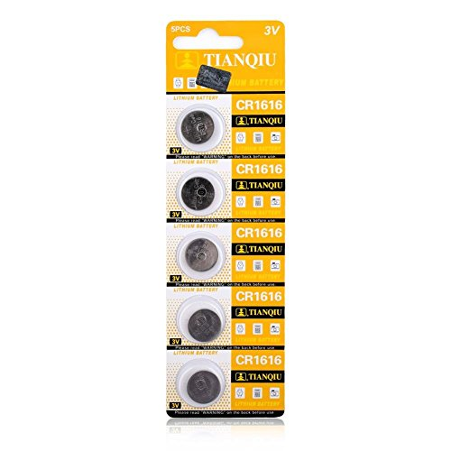 (YCDC 3V Lithium Button/Coin Cells Batteries CR1616 BR1616 ECR1616 5021LC L11 L28 Single Use, for Wristwatch Toys Remote Controllers, 5pcs)