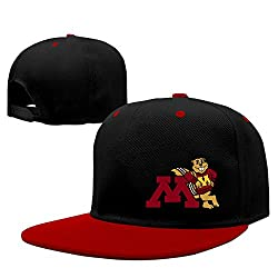 WG Custom Summer Snapback University Of Minnesota Golden Gophers Gophs Hip Hop Hats Red