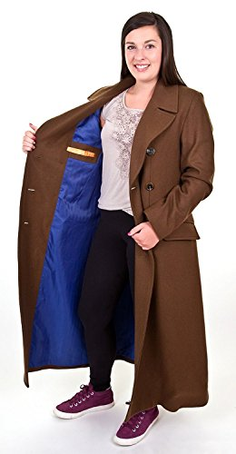 AbbyShot Doctor Who Ladies Tenth Doctor's Coat (XX-Large) Brown ()
