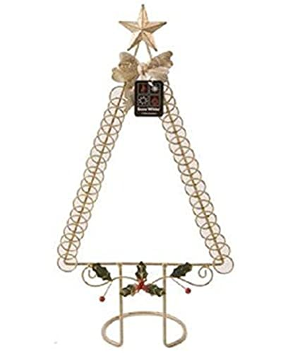 Wire Christmas Tree Card Holder In Gold 26x12x50cm Christmas