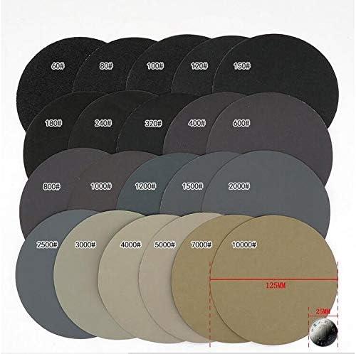 30ピコセコンド75〜80ミリメートル/ 3インチグリット1000/1500/2000/3000/5000/7000水ドライサンディングディスクのフックループ紙やすりラウンドサンドペーパーディスクサンドシート (サイズ : 3 inches (75-80mm))
