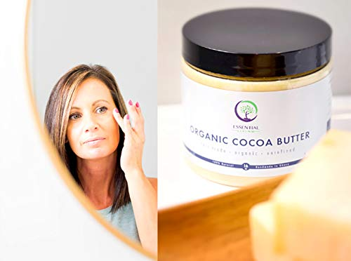 - 1 Pound Cocoa Butter: Raw - Organic, Unrefined, Fair Trade Cocoa Butter for Lotion, Soap, Body Wash, Hand Cream and Baby Eczema Moisture Therapy