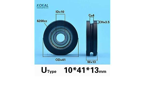 Ochoos [U1041-13]high Loading 6200zz U Groove Type Guide