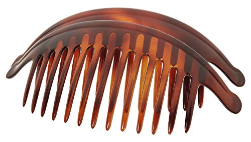 France Luxe Belle Large Interlocking Comb Pair - Tortoise by France Luxe