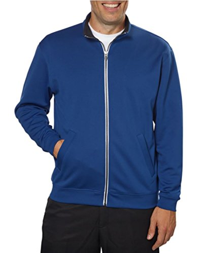 Zip Jacket Licensed Full (Pebble Beach Mens Full Zip Jacket dark Blue XL)