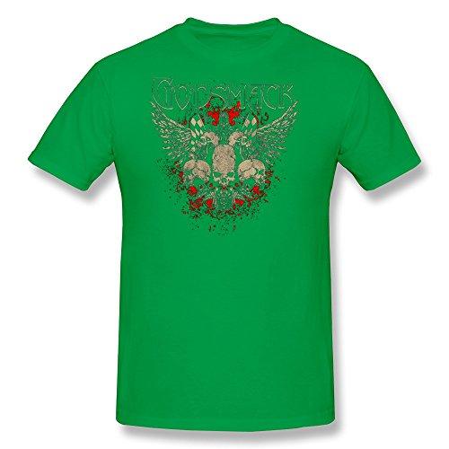 LENOJE Men's Godsmack Halloween Skull Logo Cotton T Shirts ForestGreen L]()