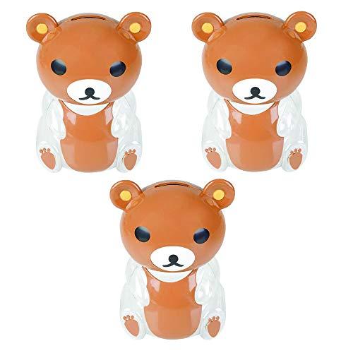 Kicko Bear Bank - Pack of 3, 5.5