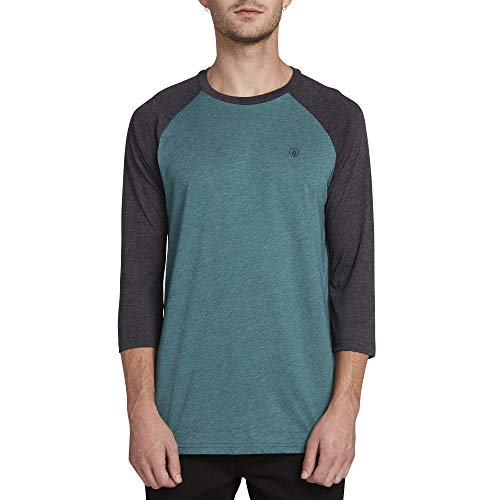 Volcom Men's Solid Heather 3/4 Sleeve Raglan Shirt, Mediterranean Extra ()