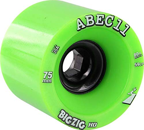Used, ABEC 11 BigZig HD Lime/Black Longboard Skateboard Wheels for sale  Delivered anywhere in USA