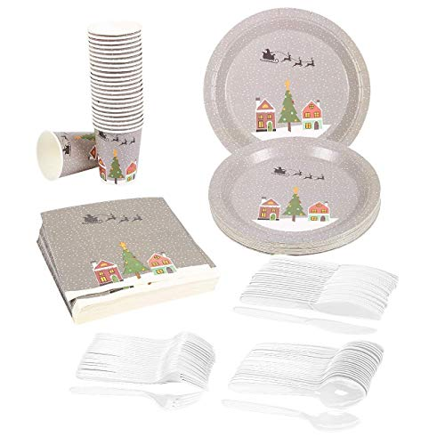 Merry Christmas Party Supplies – Serves 24 –