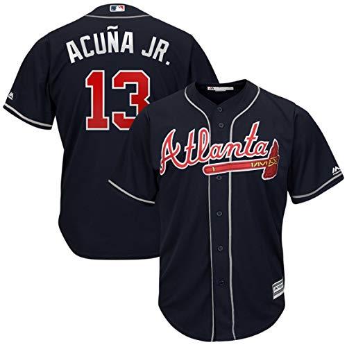 Men's #13 Ronald Acuna Jr. Atlanta Braves 2019 Cool Base Player Jersey Navy