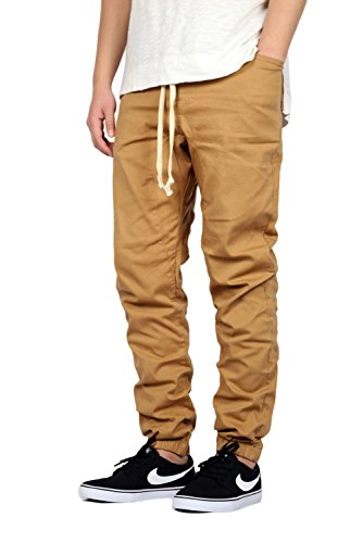 Mersenne Men's Twill Drop Crotch Jogger Pants