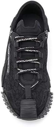 Luxury Fashion   Dolce E Gabbana Femme CK1754AX37280999 Noir Cuir Baskets   Printemps-été 20