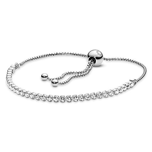 PANDORA Sparkling Strand Bracelet, Sterling Silver, Clear Cubic Zirconia, 9.1 in from PANDORA