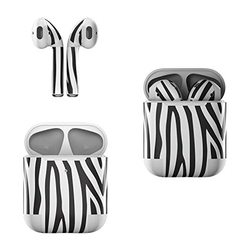 Skin Decals for Apple AirPods - Zebra Stripes - Sticker Wrap Fits 1st and 2nd Generation