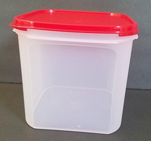 Tupperware Modular Mates Square - Tupperware Modular Mate Square 3 Container. Red Seal