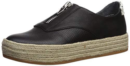 Dolce Vita Women's TRAE Sneaker, Black Leather, 7.5 M US