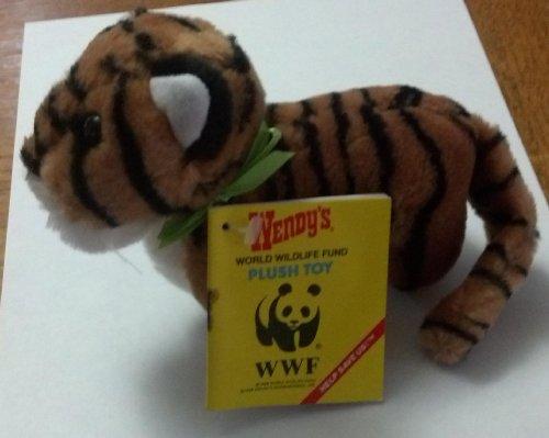 bengal-tiger-6-plush-wendys-1988-world-wildlife-fund-kids-meal-toy