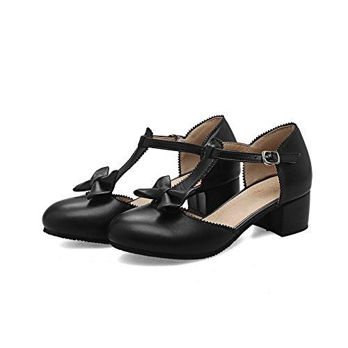 BalaMasa Noir Femme Sandales Compensées ASL05270 UAwxqfCg