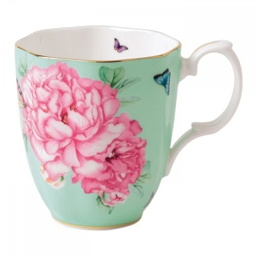 Royal Albert 40001827 Friendship Vintage Mug Designed by Miranda Kerr, 13.5-Ounce, Green