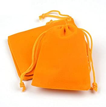 Amazon.com: 10pcs color amarillo oscuro bolsa/joyas bolsa ...