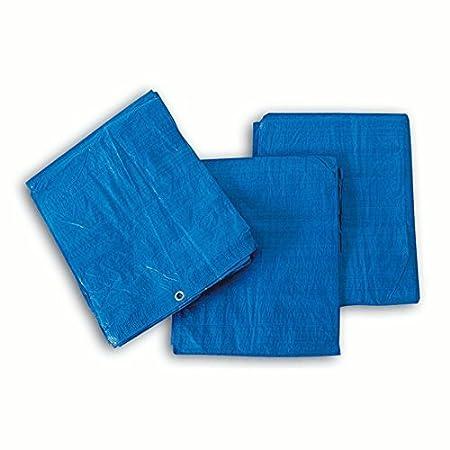4x6m Blue Strong Tarpaulin Heavy Duty Waterproof Cover Weather Proof Hootch Tarp