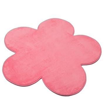 Kids World Super Soft Light Pink Flower Petal Shaped Rug