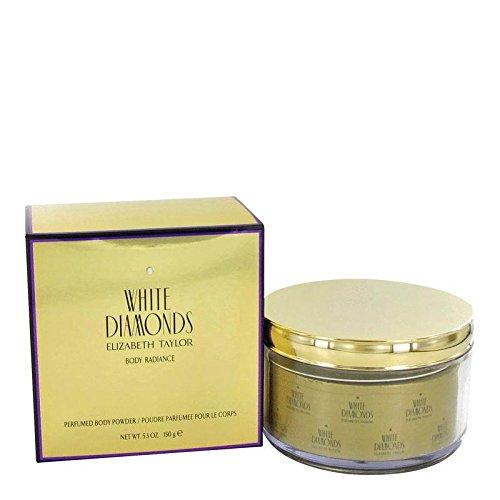 WHITE DIAMONDS by Elizabeth Taylor Body Powder Refillable 5.3 oz Women