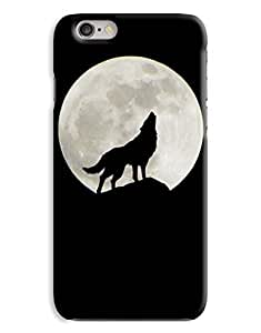 Howling Wolf Silhoutte Moon Night Indie iPhone 6 Plus Hard Case Cover