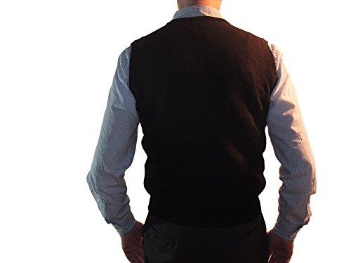 Cuello Negro 1st Cashmere Chaleco American Pura Hombre 100 Cachemira Para En Pullover Jersey V ww41TOx
