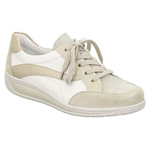 Ara Womens Mia Moda Sneakers Taupe / Grigio / Bianco / Platino Combo