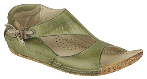 Footwear New Riva Slip Women Cartier Green Shoes Toe Open Ladies Summer Leather On qqFw61RZ
