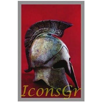1364 Ancient Greek Bronze Museum Replica of Trojan Helmet