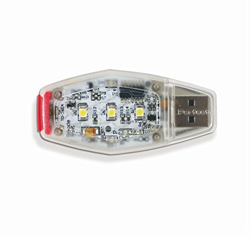 Perfect Fitness Dualtech 5-LED Rechageable Saftey Light with Front & Side Illumination