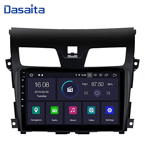 Dasaita Android 9.0 Car Stereo for Nissan Teana Altima Gps Navigation Radio with 10.2 Inch Screen 2G Ram Head Unit with Dash kit